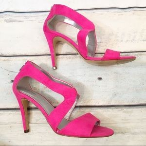 X-Appeal Veronica Hot Pink Suede Strappy Heels
